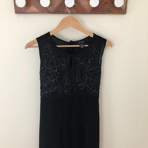 Vintage Black Beaded Long Dress Sz S